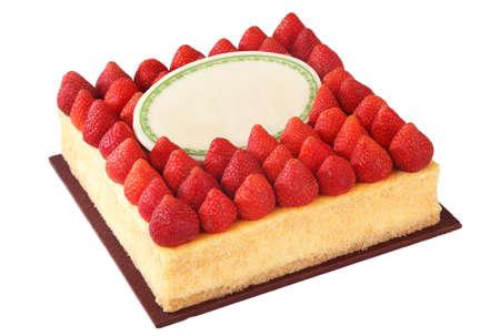 gula: pastel y fresa