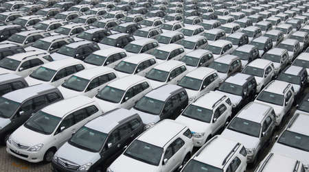 cars parking: cars pattern Stock Photo