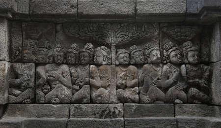 Relief in Borobudur Temple Stock Photo - 10587567