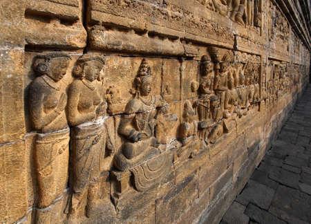 Relief in Borobudur Temple Stock Photo - 10587571