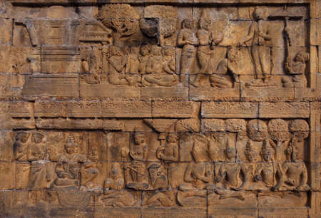 Relief in Borobudur Temple Stock Photo - 10587577