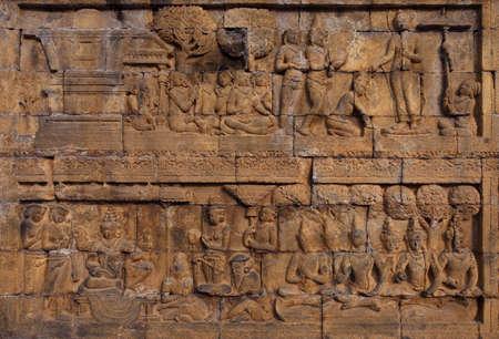 Relief in Borobudur Temple Stock Photo - 10587577