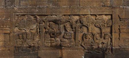 Relief in Borobudur Temple Stock Photo - 10587564