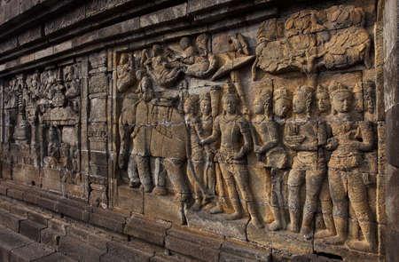 Relief in Borobudur Temple Stock Photo - 10587578
