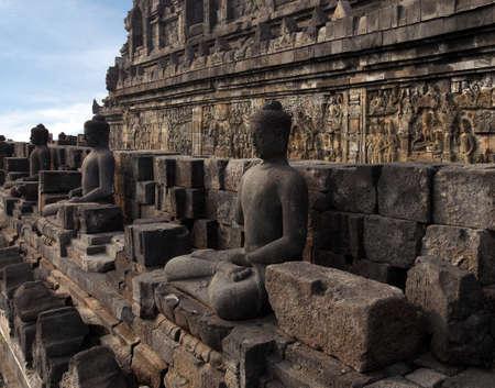 Relief in Borobudur Temple Stock Photo - 10587565