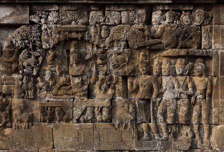 Relief in Borobudur Temple Stock Photo - 10587573