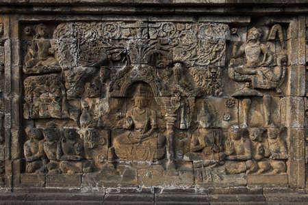 Relief in Borobudur Temple Stock Photo - 10587579