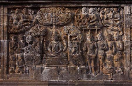Relief in Borobudur Temple Stock Photo - 10587574
