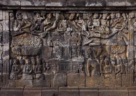 Relief in Borobudur Temple Stock Photo - 10587572