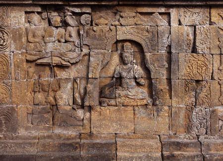 Relief in Borobudur Temple Stock Photo - 10587568