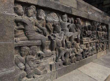 Relief in Borobudur Temple Stock Photo - 10587569