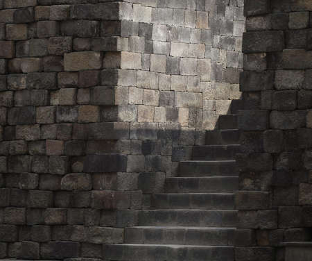 ancients: ancient  wall and steps