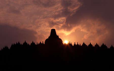 hinduismo: Templo de Borobudur Foto de archivo