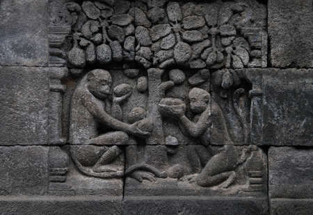 Relief in Borobudur Temple Stock Photo - 10630791