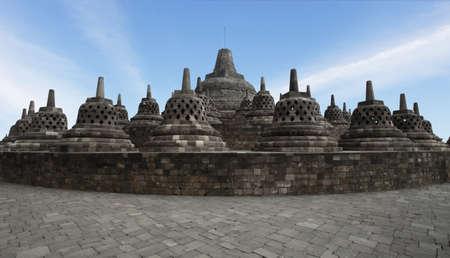 sacral: borobudur tempel Stockfoto