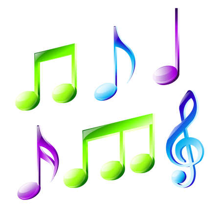 lyrics: music notes Illustration