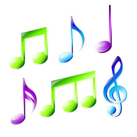 letras musicales: notas de la música