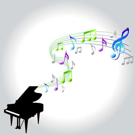 letras musicales: notas de piano de