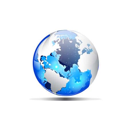 blue earth: Blue earth Illustration