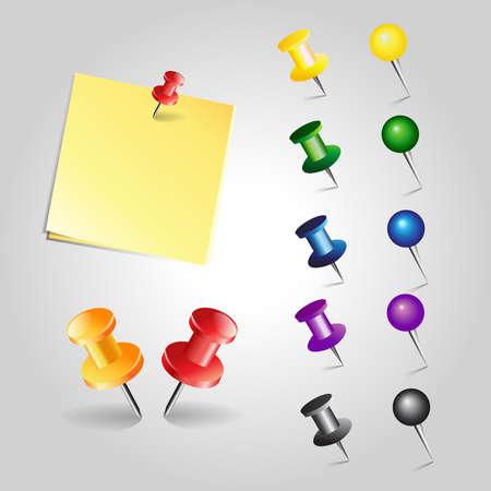 paper pin: vector paper pin
