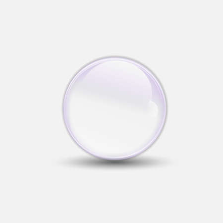 3D bubble water clear  Vector