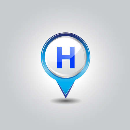 hospital pins  Vector