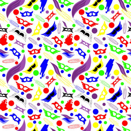 Seamless pattern with fun color Carnival day