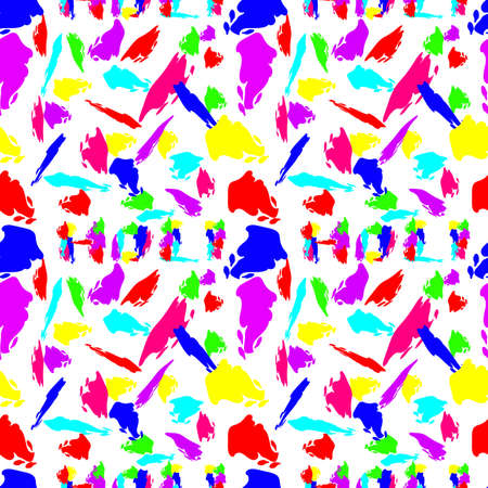 Happy Holi vector element hand draw seamless pattern