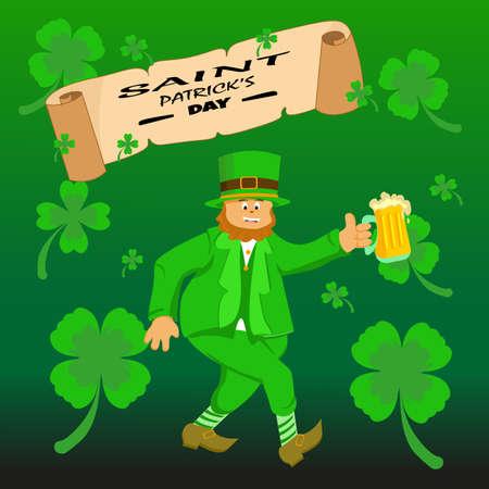 St.Patricks day background Çizim