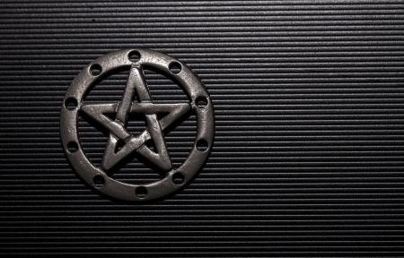 neopaganism: Pewter Pentacle