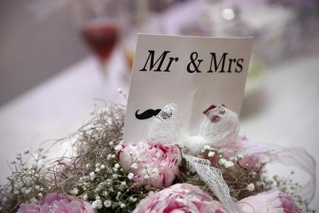 mrs: Invitaci�n de boda de Sr. y la Sra Foto de archivo