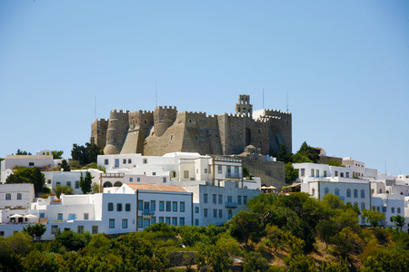 judgement day: historic holly monastery in Patmos island Greece