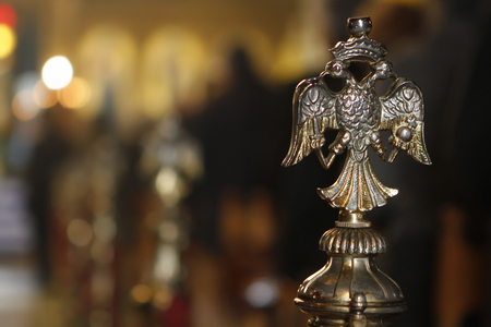 Byzantine orthodox symbol twohead eagle