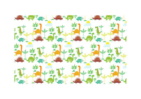 Dinosaur seamless background. Baby cloth design, wallpaper Illustration vector 일러스트