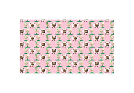 Seamless Cute Sheep Background Pattern Illustration Vector Vektorové ilustrace