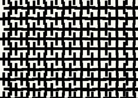 Hand drawn, Abstract monochrome background created with zipper lines on white background, Bricks cladding floor pattern Stock Photo