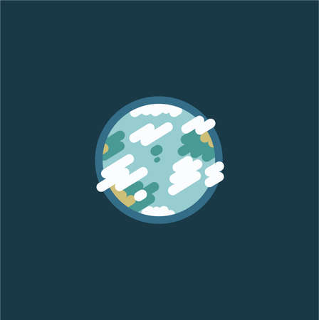 flat icon of earth