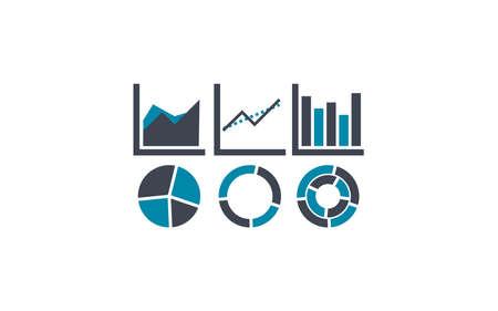 Icon of some chart Illusztráció