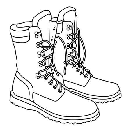 Hand Drawn boots doodles Illustration