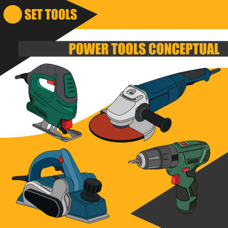 Set of electric tools