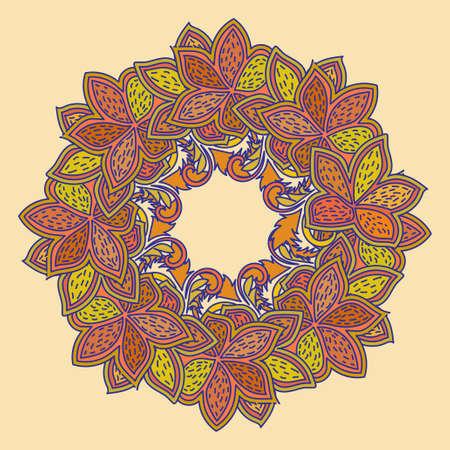 Floral card design illustration Illustration