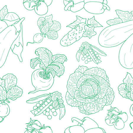 seamless pattern of various doodles