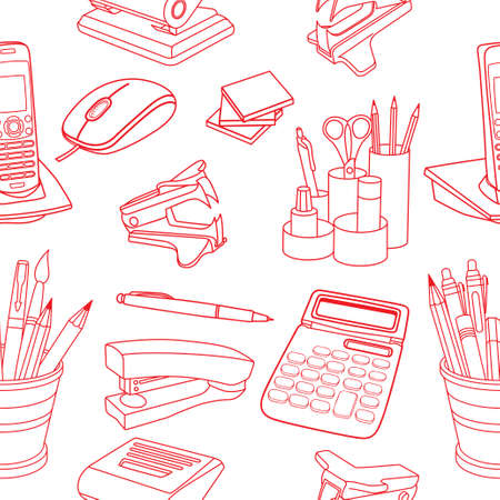 Doodle style seamless Illustration