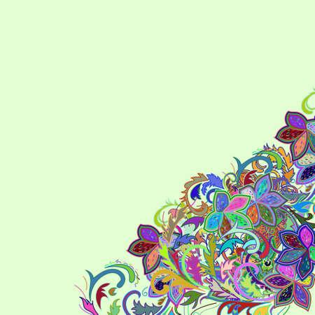 Floral card design Illustration
