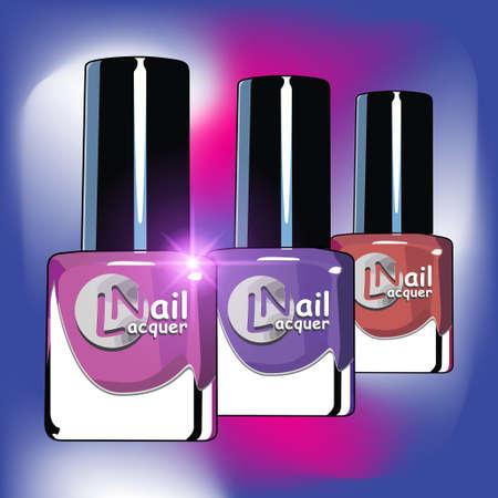 colors nail lacquer bottles