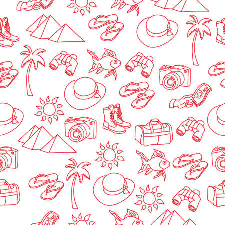 World Travel seamless pattern Illustration