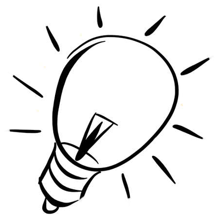 lighting bulb: A sketch of a lightning bulb