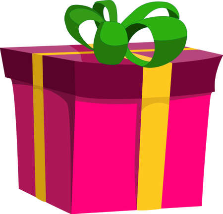 A vector image of a gift. All objects are separated, the can be scaled, edited or recolored for 5 minutes