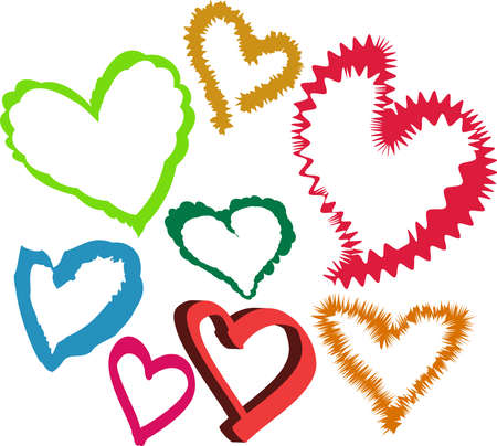 A vector image of Loving Hearts. All objects are separated and can be recolored, scaled and edited for 5 minutes without quality loss. Stock Vector - 10632075