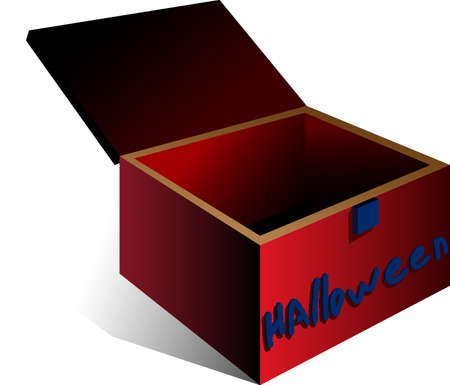 moved: A vector illustration of a box. All obgects can be moved edited and scaled separetly without quality loss. Illustration
